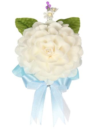 artificial flower: Jasmine artificial flower on white background Stock Photo