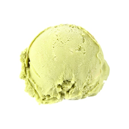 Scoop of Green tea ice cream photo