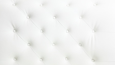 White vintage leather for background Stock Photo