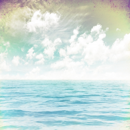 grunge image of sea for background photo
