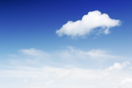 Blue sky with white cloud background photo