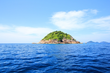 water  panoramic: Tropical island in Phangnga South of Thailand Stock Photo