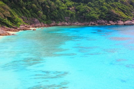 Blue sea with tourist in Similan island Phang-Nga South of Thailand Stock Photo - 16515293
