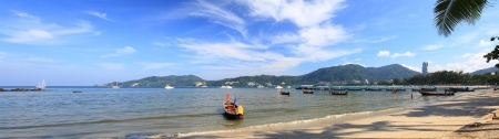 Panoramic view of Patong beach South of Thailand Stock Photo - 16843001