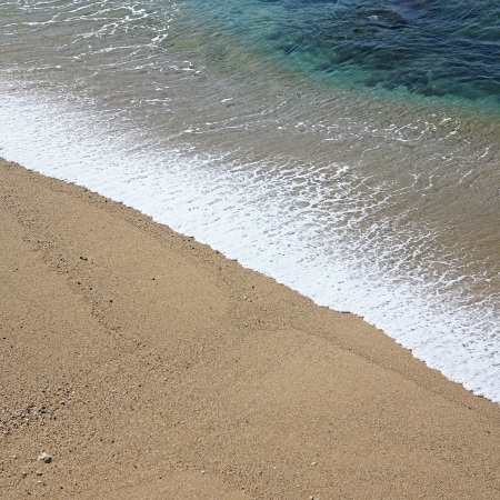 Tropical beach wave and sand Stock Photo - 16843115