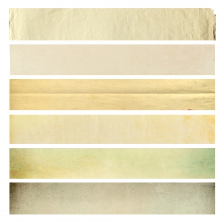 Set of old paper texture for background Stock Photo - 17115301