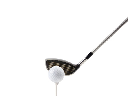 off path: Golf tee off on white, clipping path