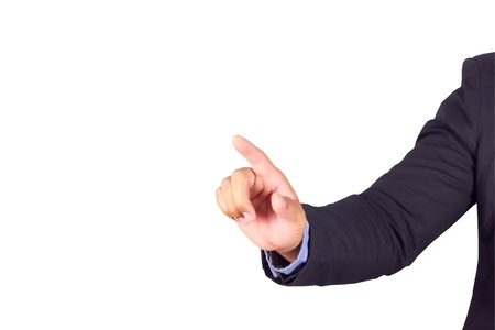 Businessman hand pointing with clipping path Stock Photo - 17115270