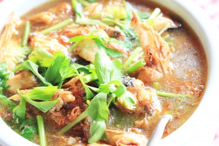 Fired fish soup, Thai style food Stock Photo - 17115297