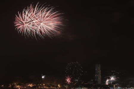 Fireworks, Patong South of Thailand  Stock Photo - 17115299