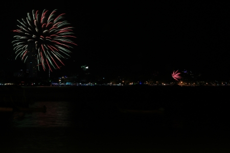 Fireworks, at Patong beach Phuket South of Thailand  photo