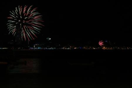 Fireworks, at Patong beach Phuket South of Thailand Stock Photo - 17115283