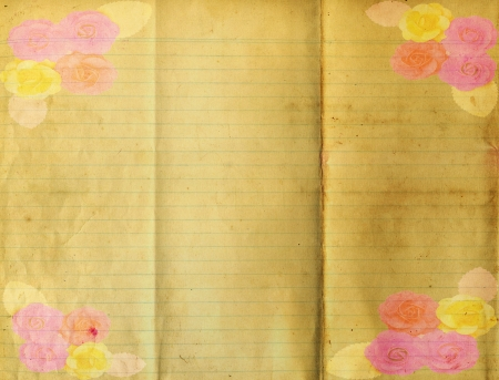 explored: Old folder paper texture for background Stock Photo