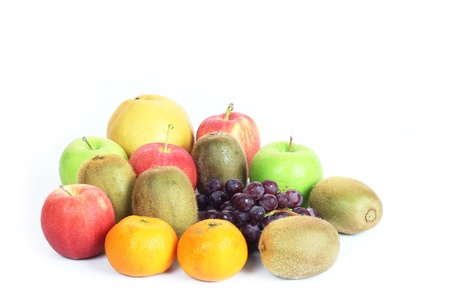 mix fruit: Mix fresh fruit on white background Stock Photo