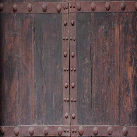 Vintage wooden door texture for background photo
