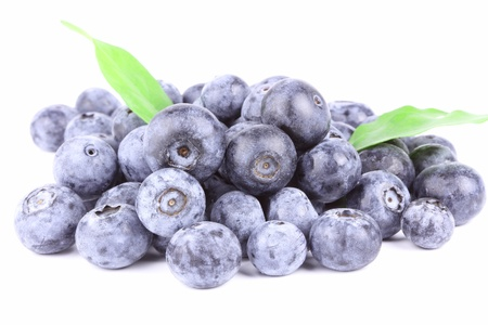 Fresh Blueberry close on white background photo