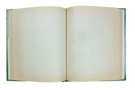 open old book on white background, Clipping path photo
