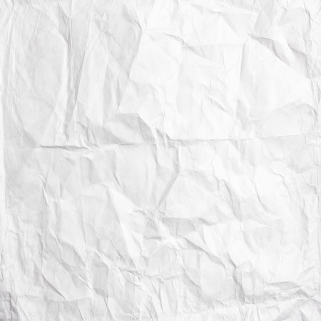 crumpled sheet: white crumpled paper texture use for background