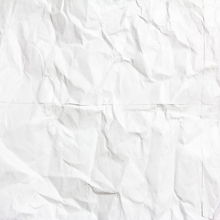 white crumpled paper texture use for background photo