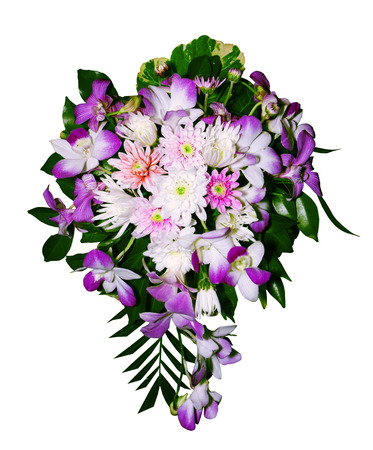 Bouquet isolated on white with clipping path photo