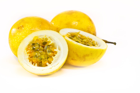 Passion fruit isolated on white background photo