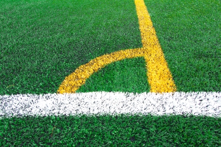 synthetic: Soccer field grass conner
