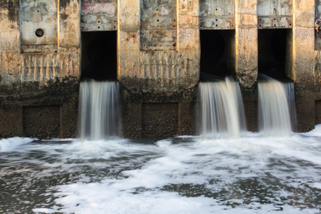 sluice: Waste water to small canal