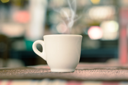 Coffee Espresso. Cup Of Coffee in coffee shop, use filtered images  photo