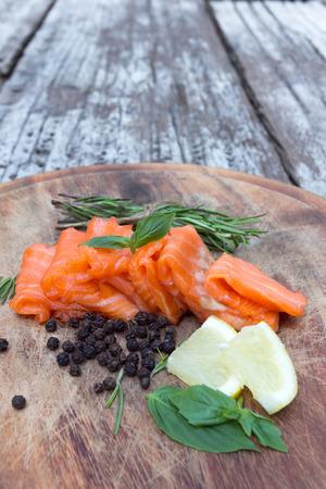 blubber: smoked salmon on wood