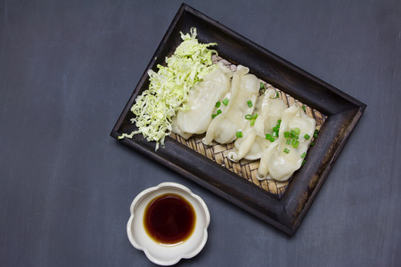 gyoza: Japanese Gyoza top view