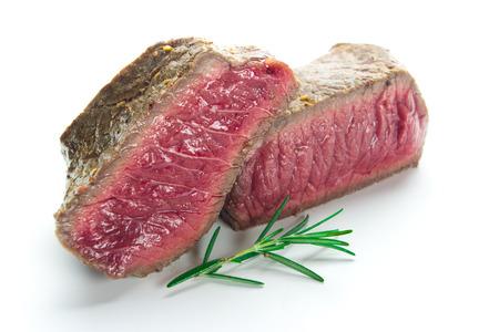 fillet steak: grilled fillet steak on white background