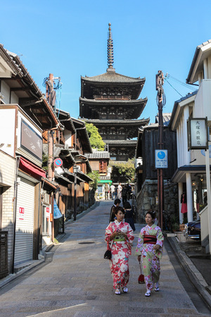 Kyoto, JAPAN- October 19 : Toji Pagoda is a landmark Buddhist temple in Kyoto, Japan on October 192014.