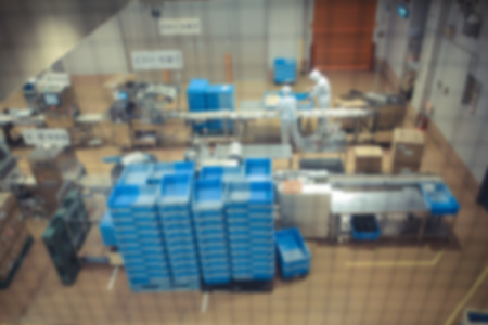 blurr: Confectionery factory on production, motion blurr Stock Photo