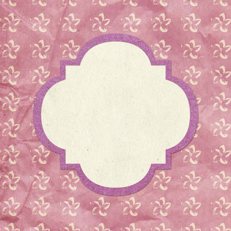 Vintage style background with frame and floral pattern photo