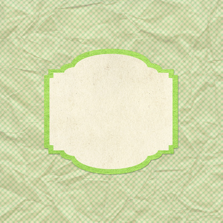 Green vintage style background with frame  photo