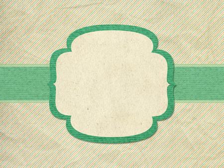 Vintage style green background with frame and ribbon photo