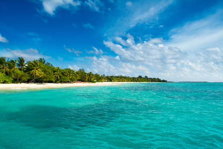 Wooden villas over water of the Indian Ocean, Maldives Banco de Imagens