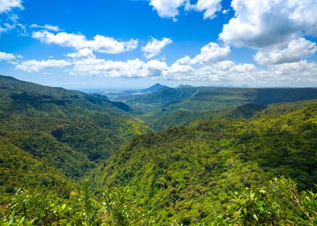 Beautiful landscape of  Black River Gorges National Park,  Mauritius island