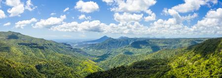 Beautiful panorama landscape of  Black River Gorges National Park,  Mauritius island