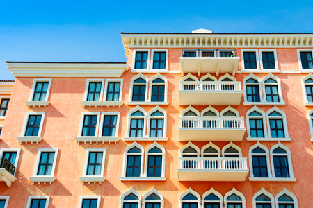 Architectural design of the Qanat Quartier, The Pearl Qatar