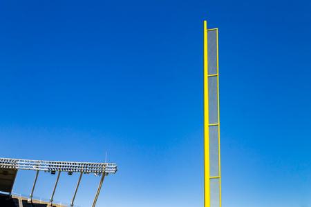Baseball foulball pole at baseball stadium