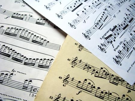 nota musical: Hojas de la música