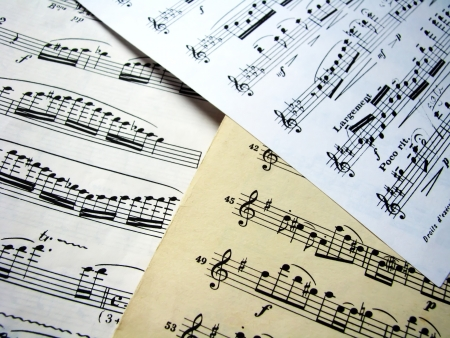 Sheets music Stock Photo - 11246411