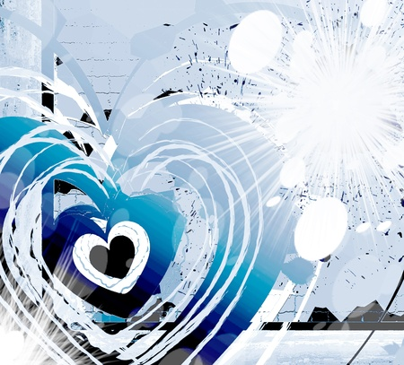 indigo: Heavy bright heart Stock Photo