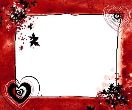 white frame love heart: Love nature