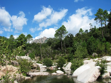 Corsican river Stock Photo