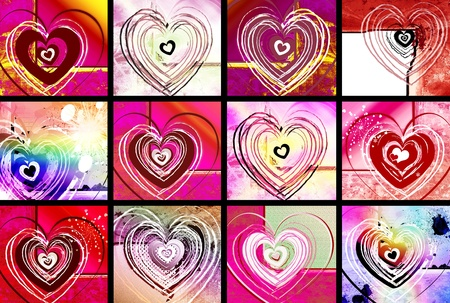 Set of Valentine cards Stock Photo - 11529178