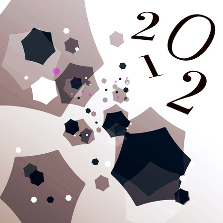 the turn of the year: 2012 Stock Photo