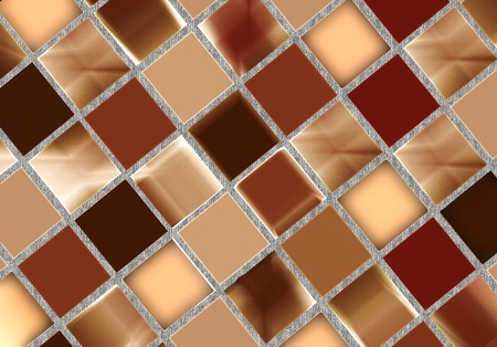 Glossy brown mosaic