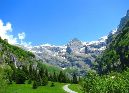 Franz�sisch Alpen Landschaft Lizenzfreie Bilder